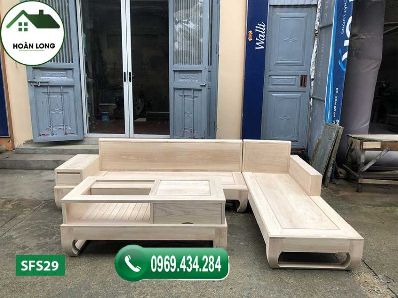 Top 6 mẫu ghế sofa gỗ góc chữ L cho gia đình được chuộng nhất 2020