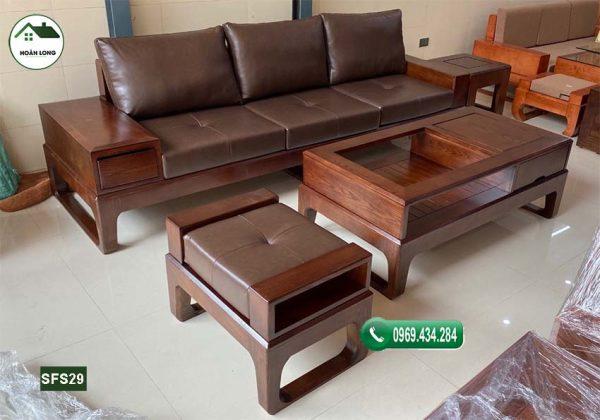 sofa văng chân oải gỗ sồi Nga SFS29