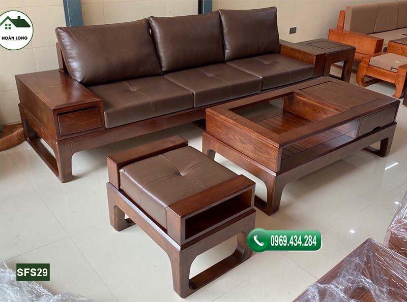 Xả stress với 7 mẫu ghế sofa gỗ phòng khách có lót kèm nệm 2021
