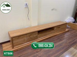Kệ tivi kiểu đơn giản 6 ô tủ gỗ sồi Nga KTS02