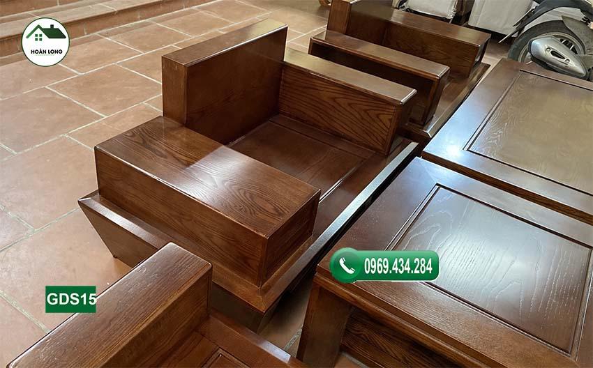 ghế đối chân thuyền gỗ sồi Nga GDS15