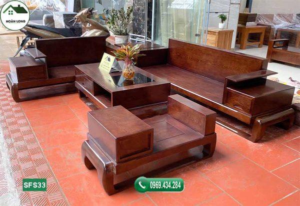 sofa đùi gà gỗ sồi Nga SFS33