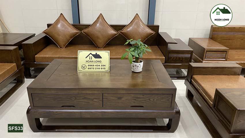 sofa 2 văng đùi gà gỗ sồi Nga SFS33