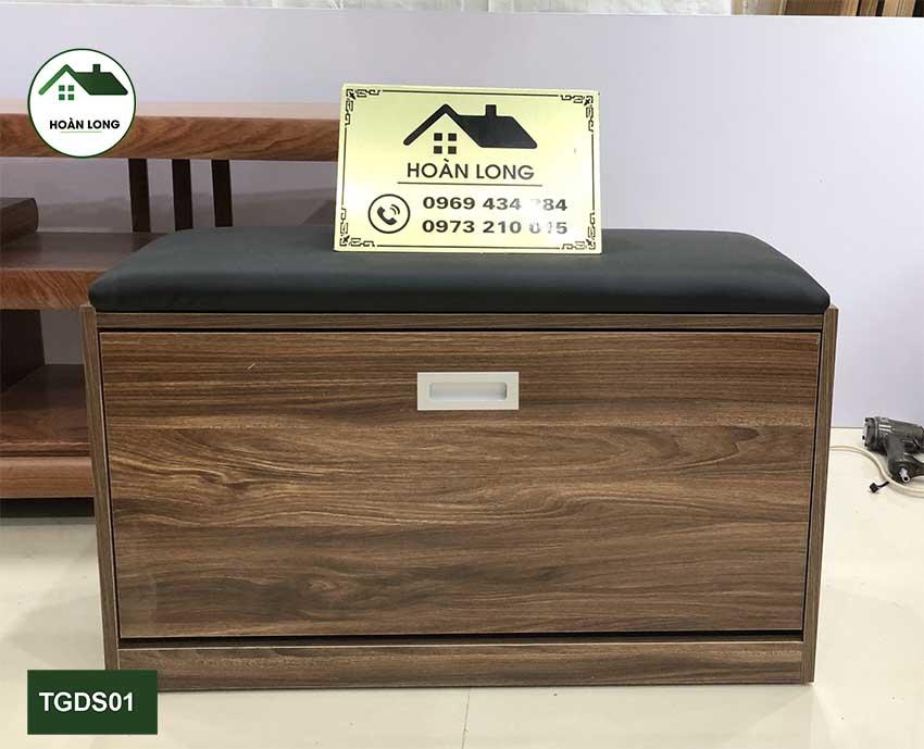 Tủ đựng giầy dép cánh lật thông minh 1 tầng gỗ sồi TGDS01