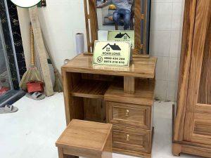 Bàn trang điểm 2 ngăn kéo gỗ hương xám BTD04