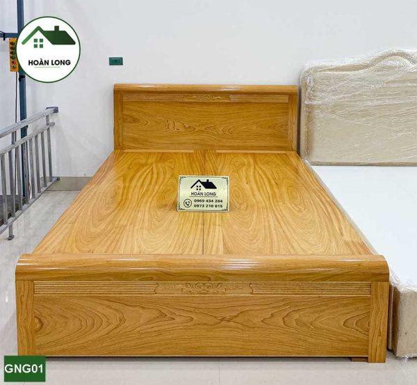 Giường hộp gỗ gõ đỏ GNG01