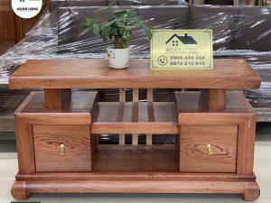 Kệ tivi gỗ hương đá KTH02